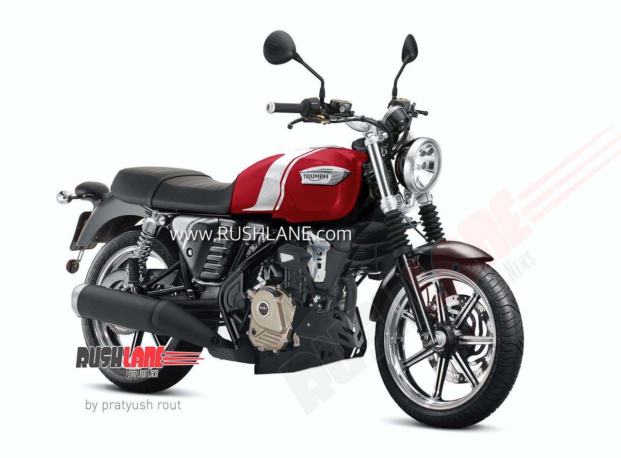 Bajaj Triumph 200 cc motorcycle render