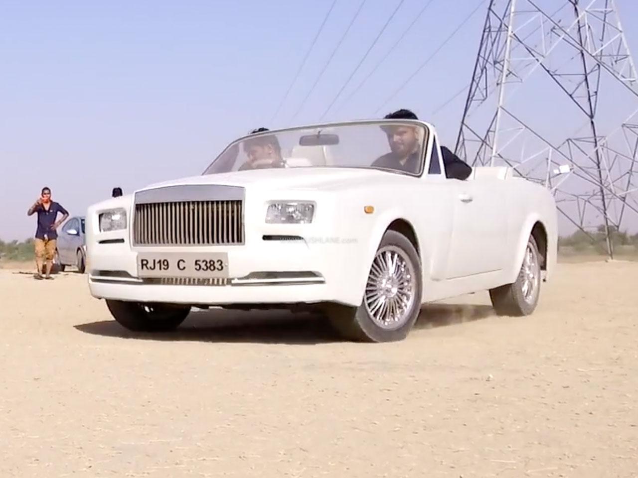 Fiat modified as Rolls Royce