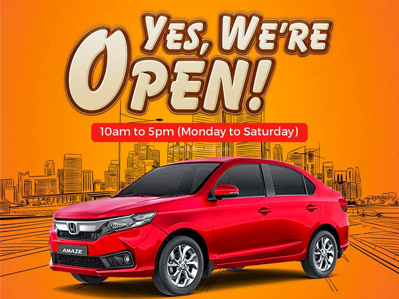 Honda Cars showroom open for sales and service – Video