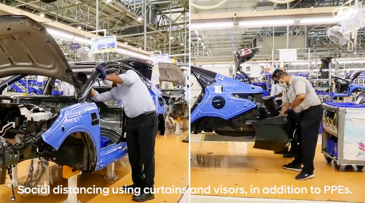 Hyundai India manufacturing cars with precautionary measures – Video