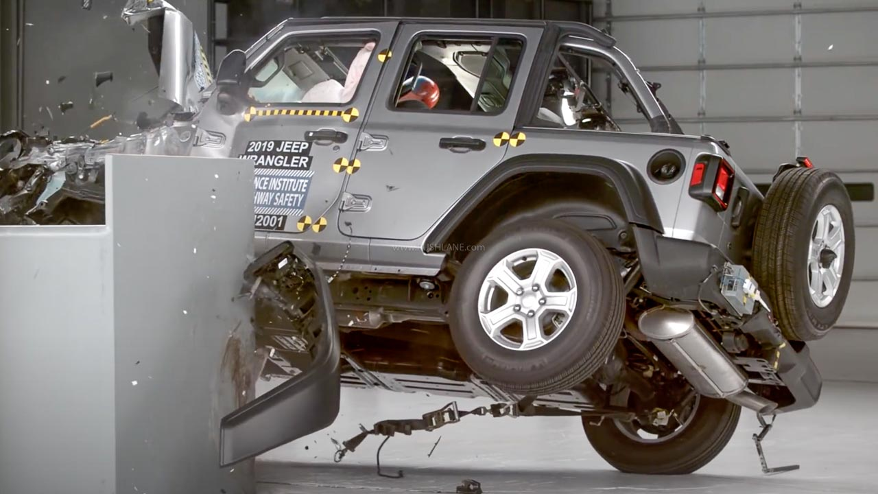 Jeep Wrangler crash test