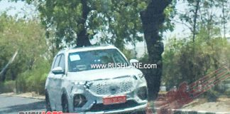 MG Hector Plus spied