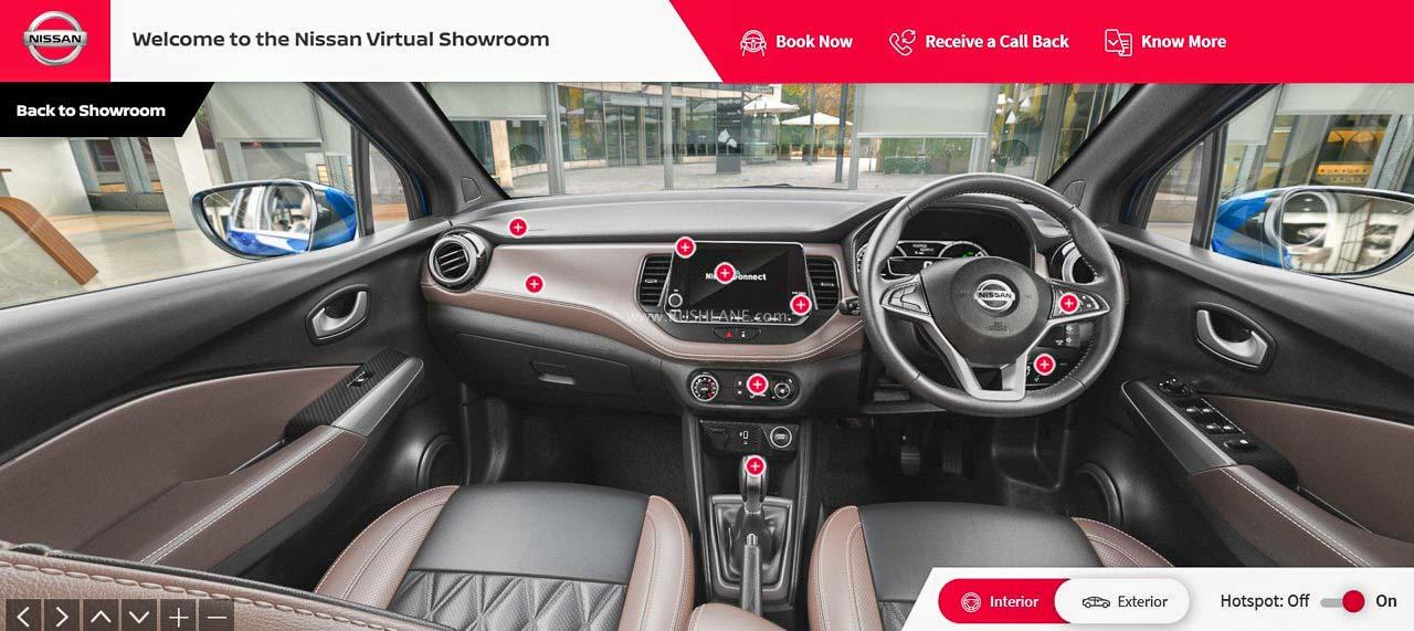 Nissan Kicks virtual showroom