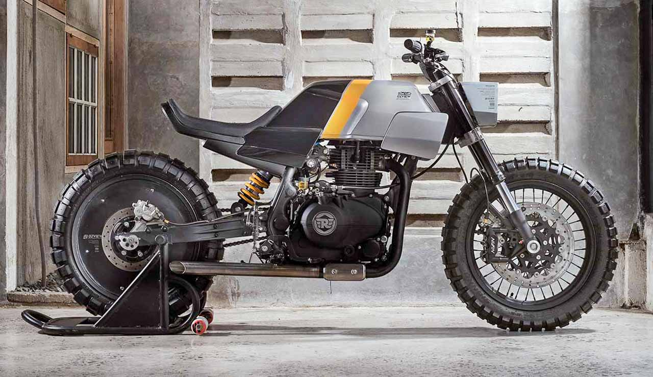Royal Enfield Himalayan modified by an architect