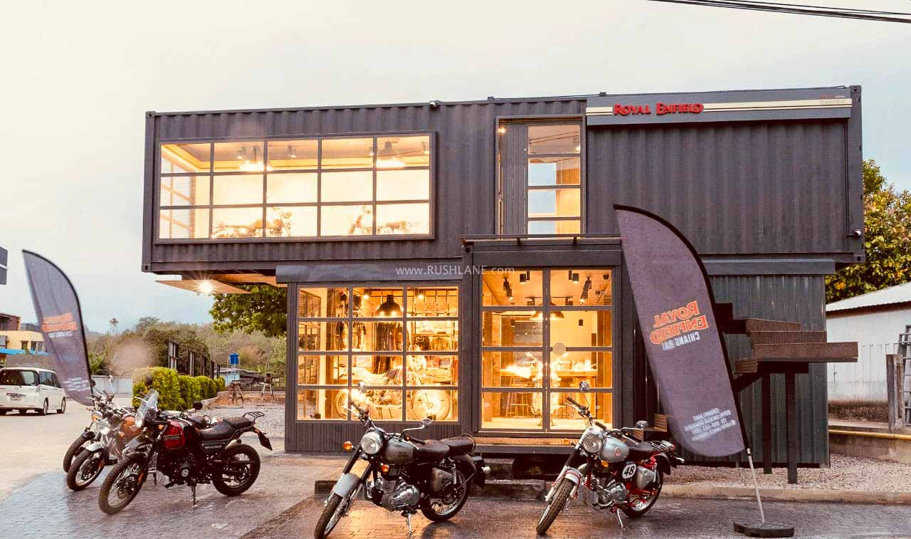 Royal Enfield movable dealership