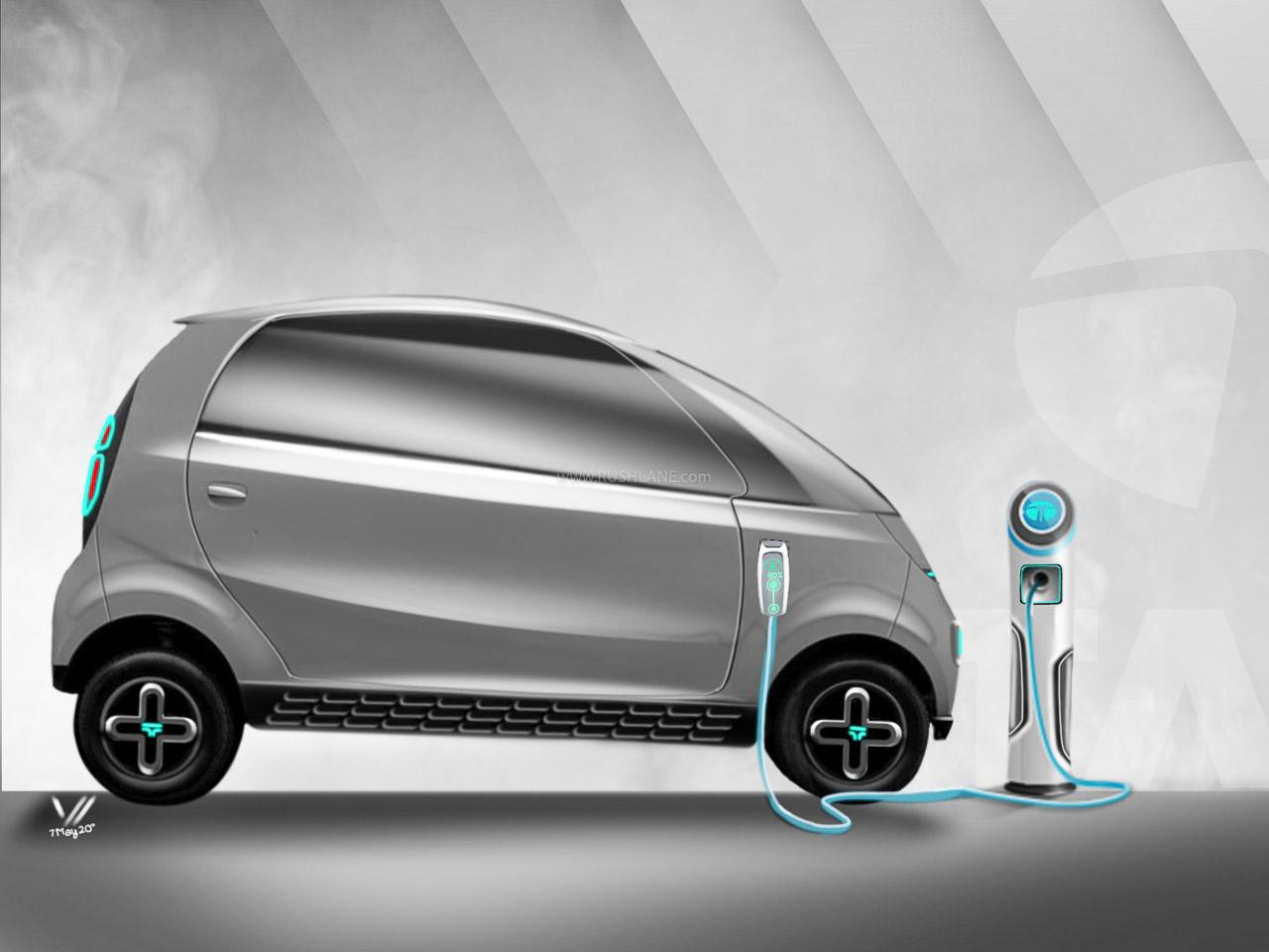 Tata Nano Electric iNano EV Concept by Vishal Verma