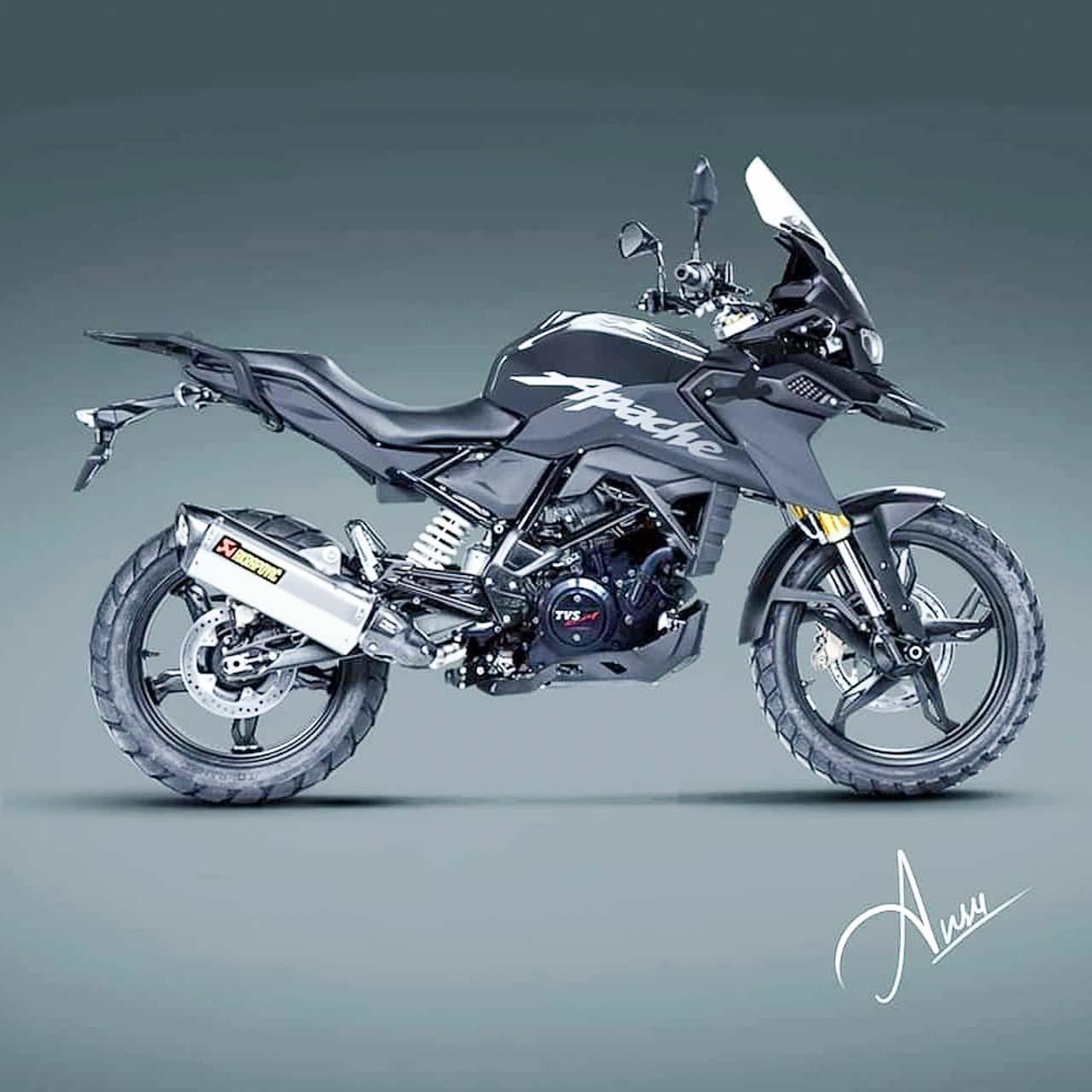 TVS Apache 310 Adventure Render – KTM 390 ADV, Himalayan Rival