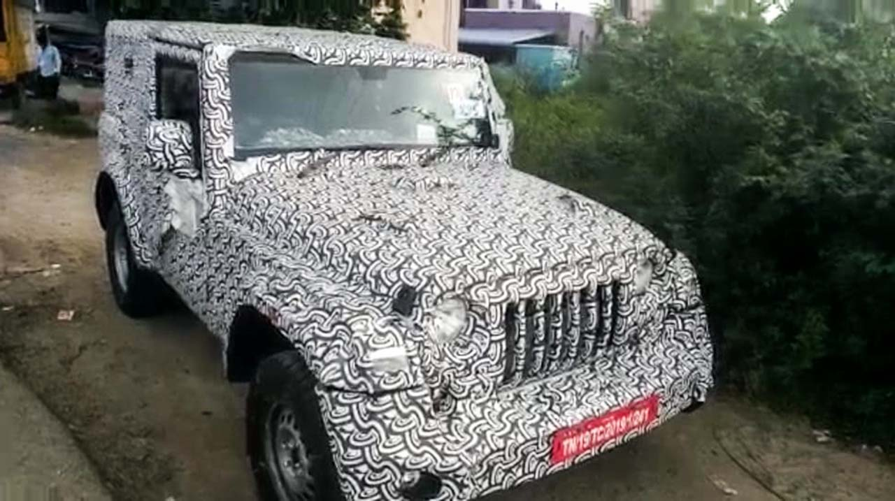 2020 Mahindra Thar diesel automatic spied in detail – Walkaround video