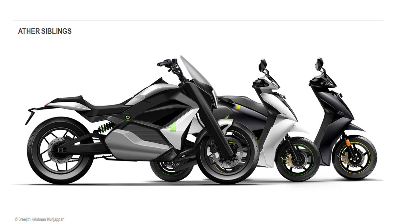 Ather Electric Motorcycle Render – Potential Rival To TVS Zeppelin Cruiser
