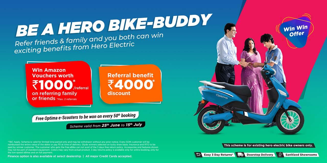 Hero 'Be a Bike Buddy' referral scheme
