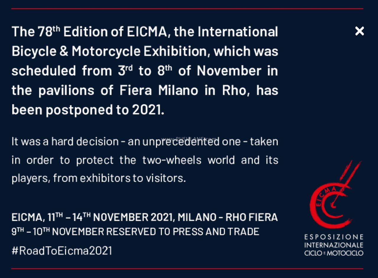 Eicma 2020 cancelled