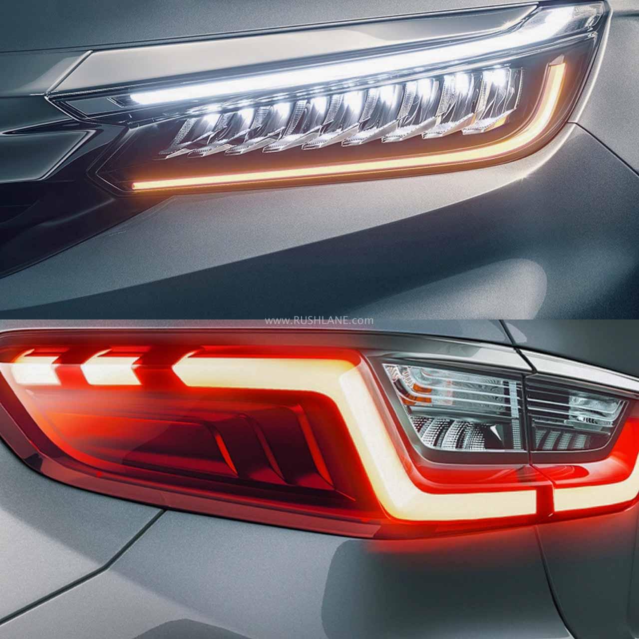 2020 Honda City headlight and tail light