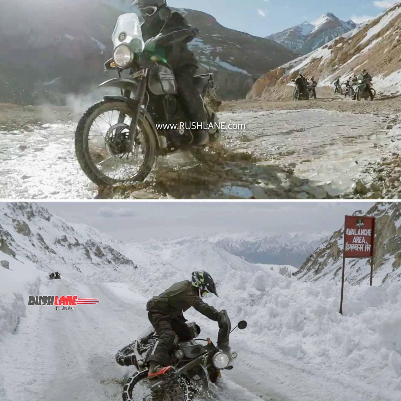 Indian Army rides RE Himalayan to Karakoram Pass near India-China border