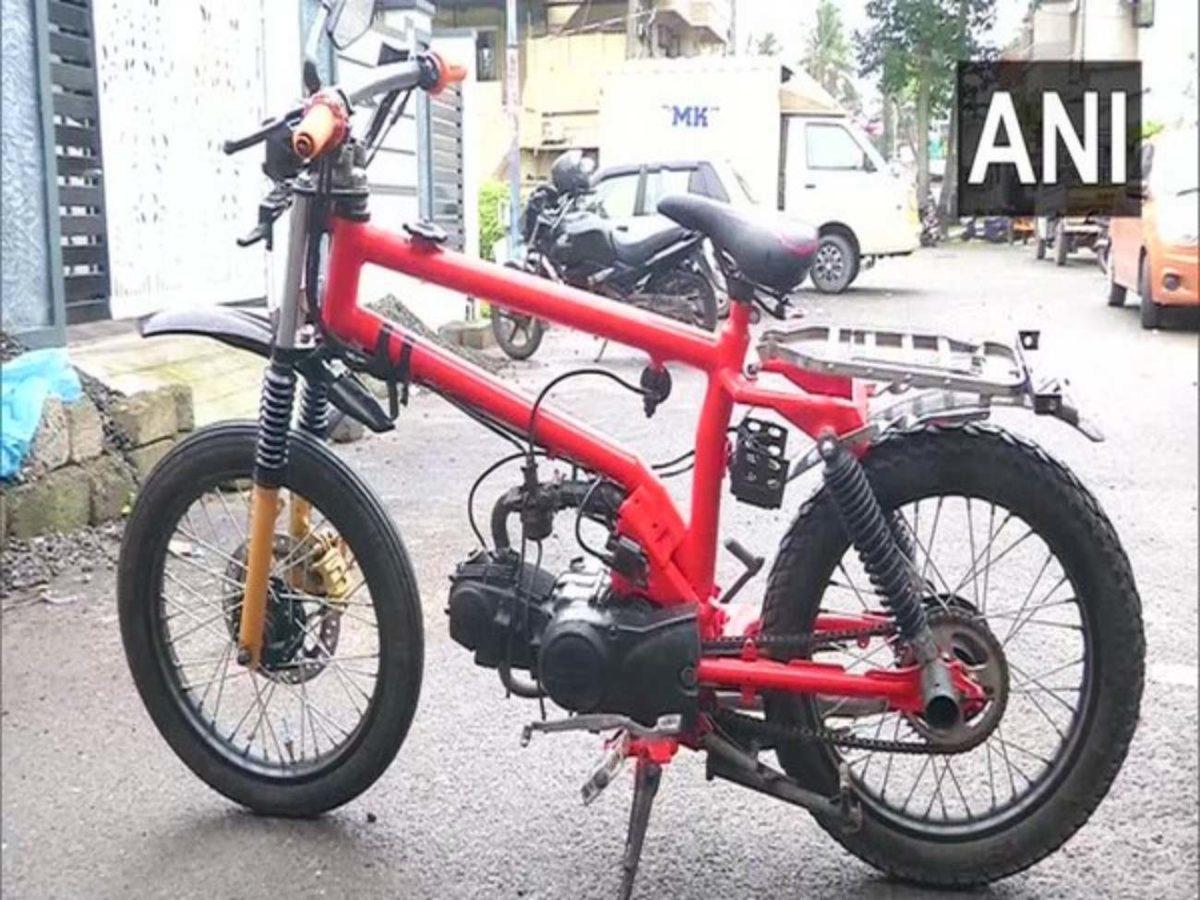 Student creates motorcycle
