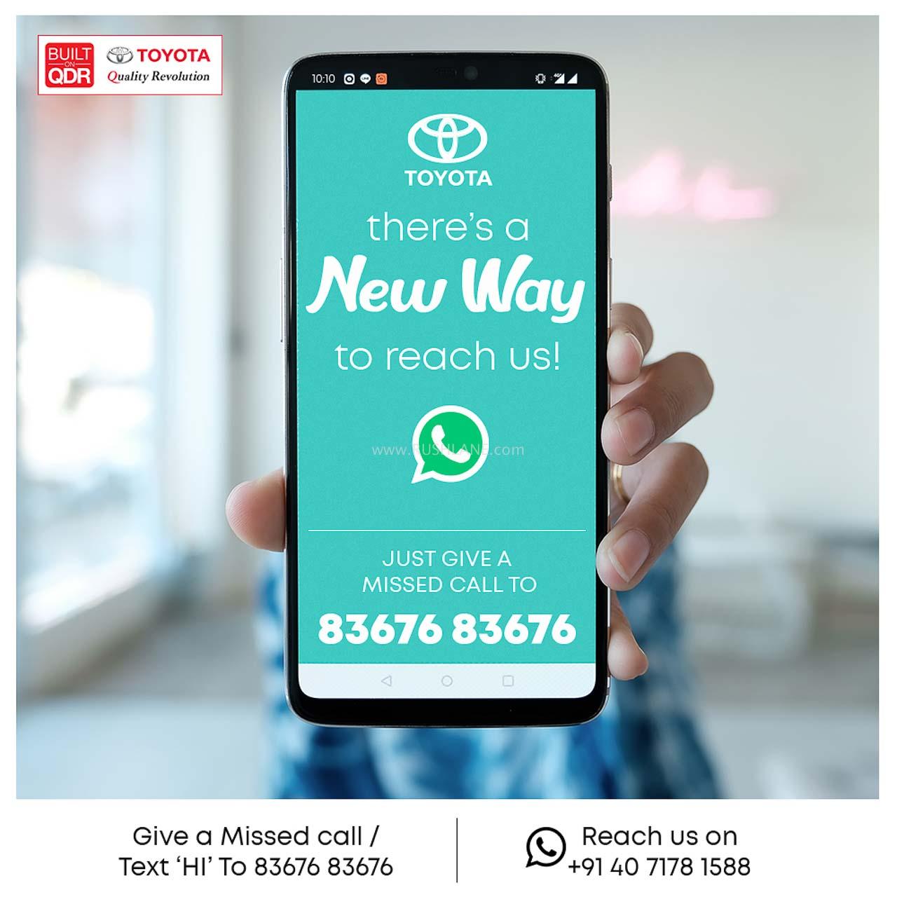 Toyota Whatsapp Account