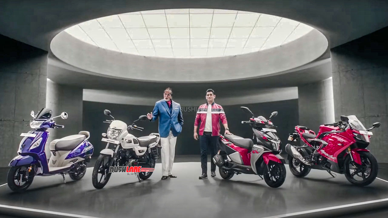 Amitabh Bachchan and MS Dhoni in new TVS Motor ad