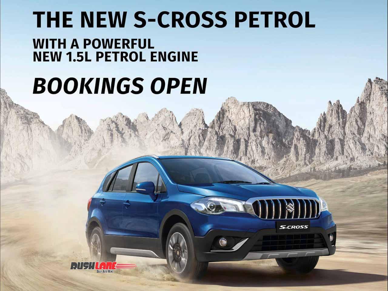 BS6 Maruti S-Cross bookings open