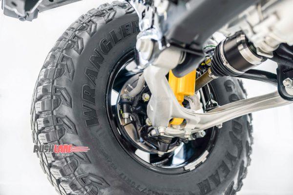 Wrangler branding on Ford Bronco Tyres