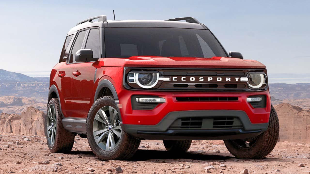 4 Ford EcoSport Next-Gen Render Based on Bronco Sport, Explorer SUV