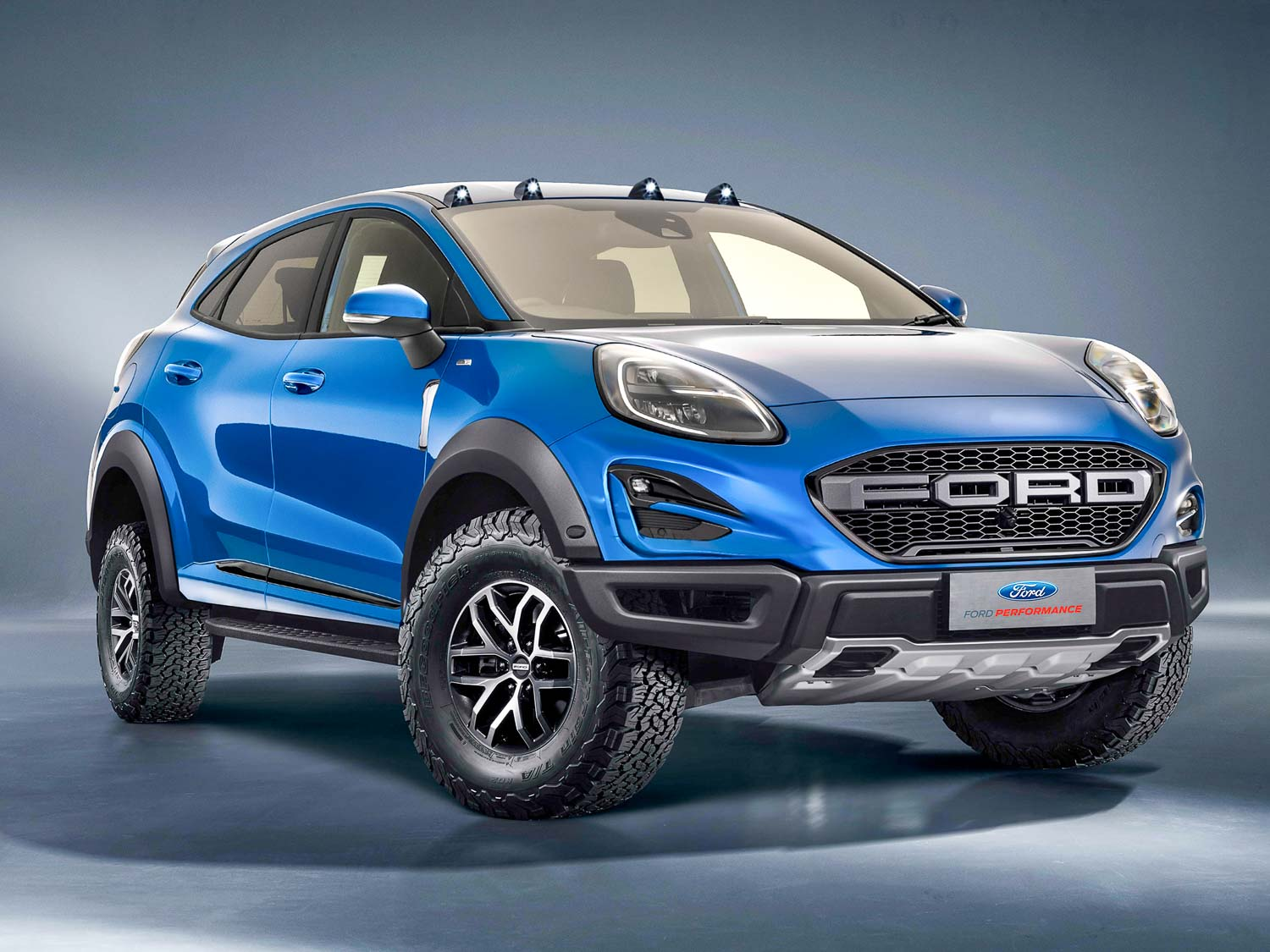 Ford Puma Raptor rendered as a crazy-looking crossover