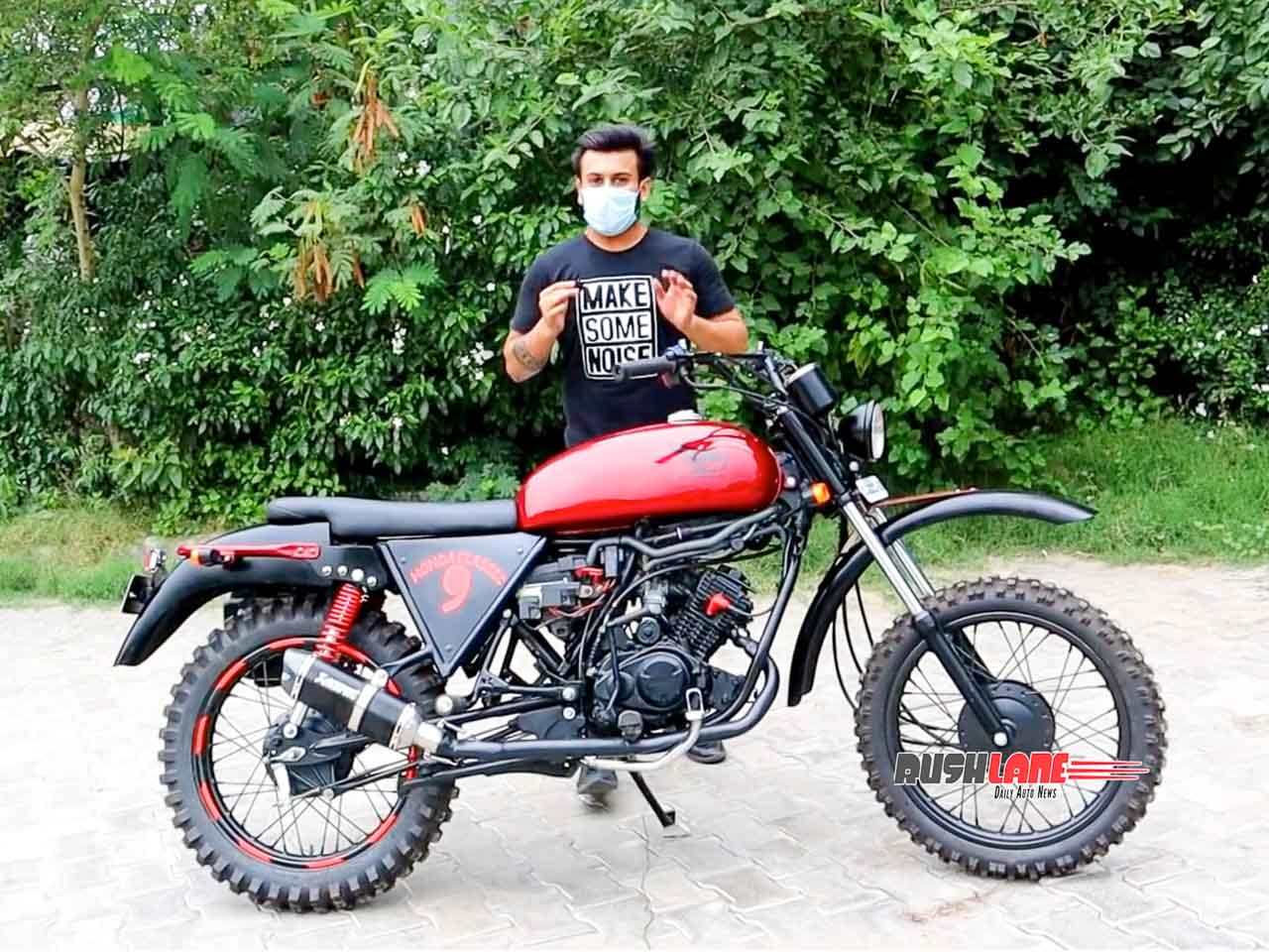 Hero Passion XPro modified into adventure bike for Rs 80k – Video