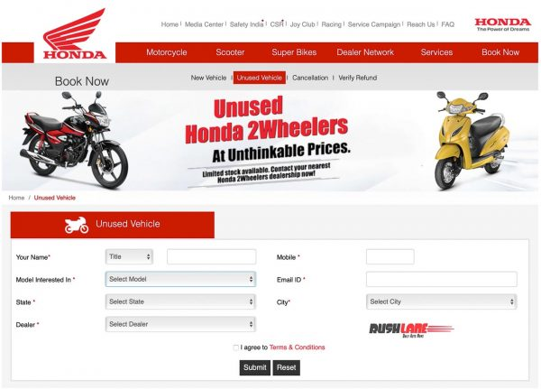 Honda scooters motorcycles BS4