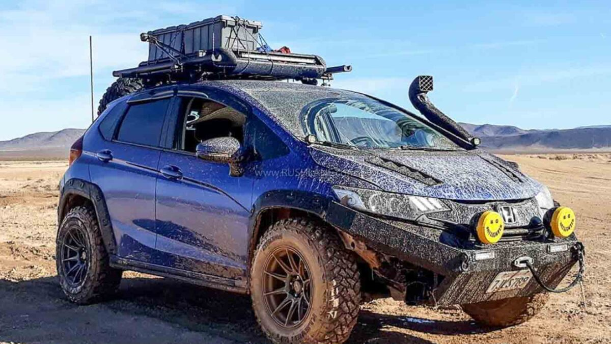 Honda Jazz Modified Into An Offroader Can Put 4x4 Suvs To Shame