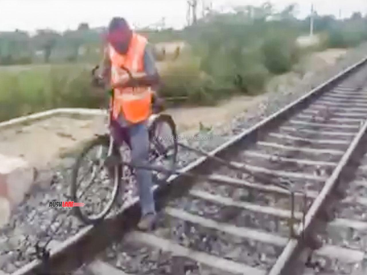 Rail bicycle
