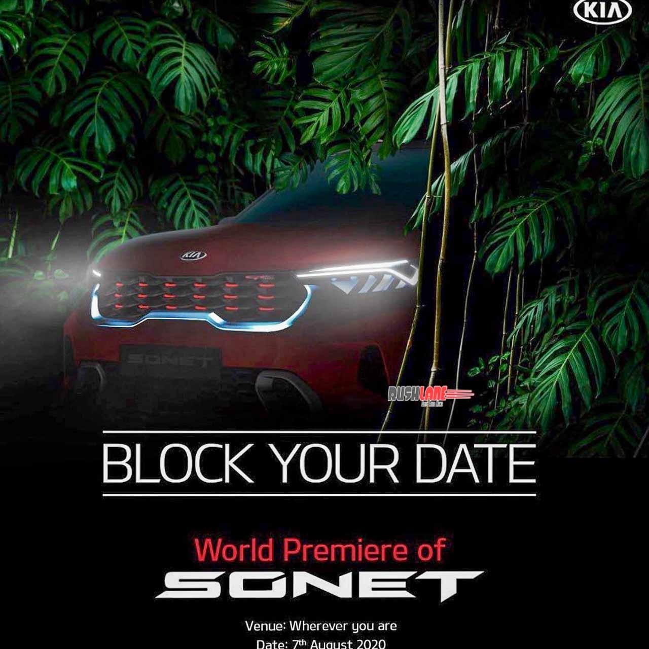 Kia Sonet teaser launch debut