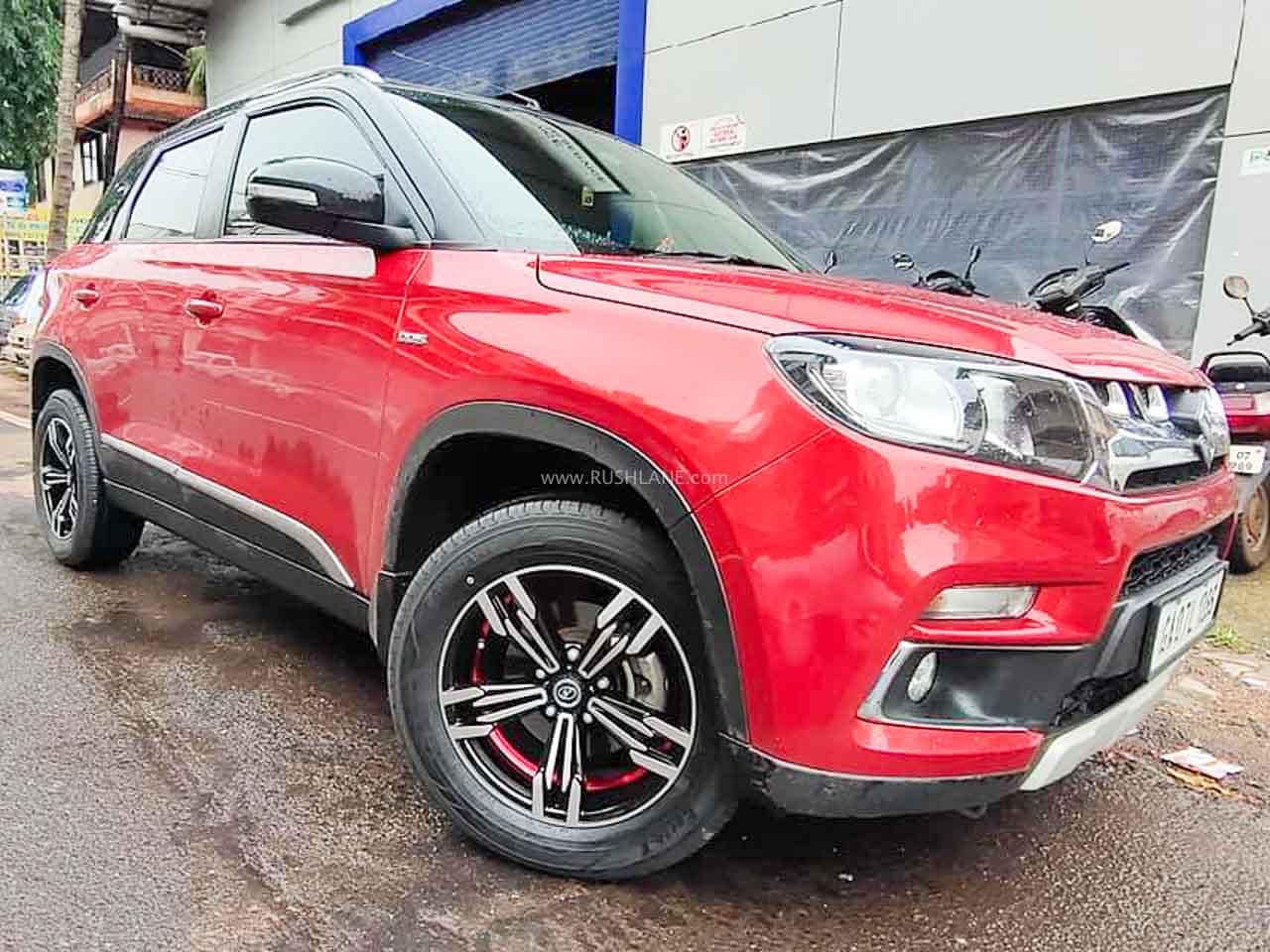 Maruti Brezza owner modifies his SUV look – Thanks to stylish new alloys