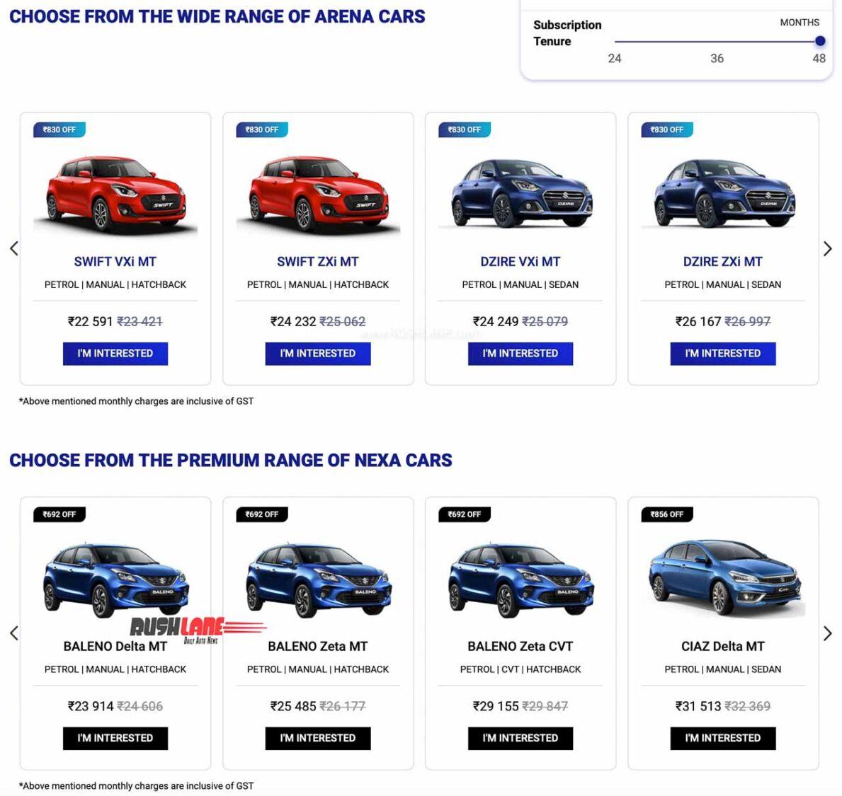Maruti Cars Subscribe