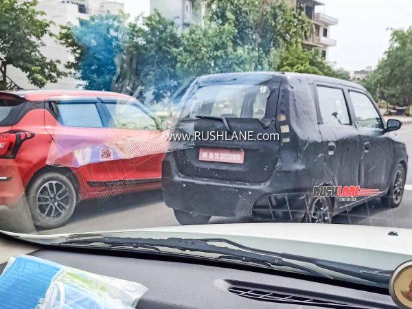 Maruti WagonR Electric Spied