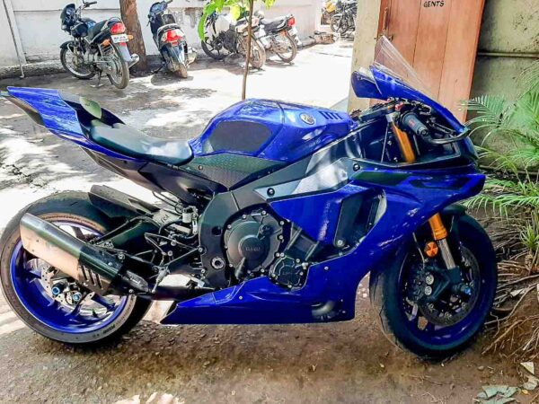 Yamaha R1 now in the custody of Bangalore Traffic Police