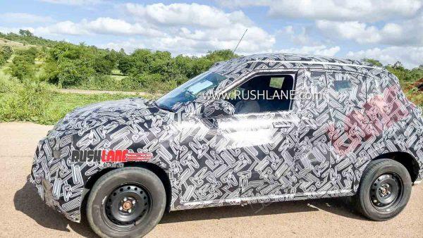 Nissan Magnite SUV spied