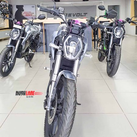 Revolt electric motorcycle delivery start in Ahmedabad, Chennai