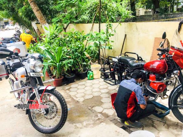 Royal Enfield service on wheels