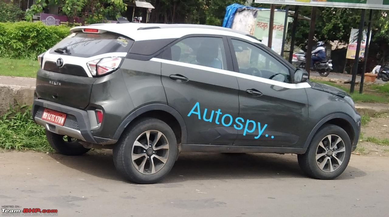 Tata Nexon spotted testing without any camouflage – DCT variant?