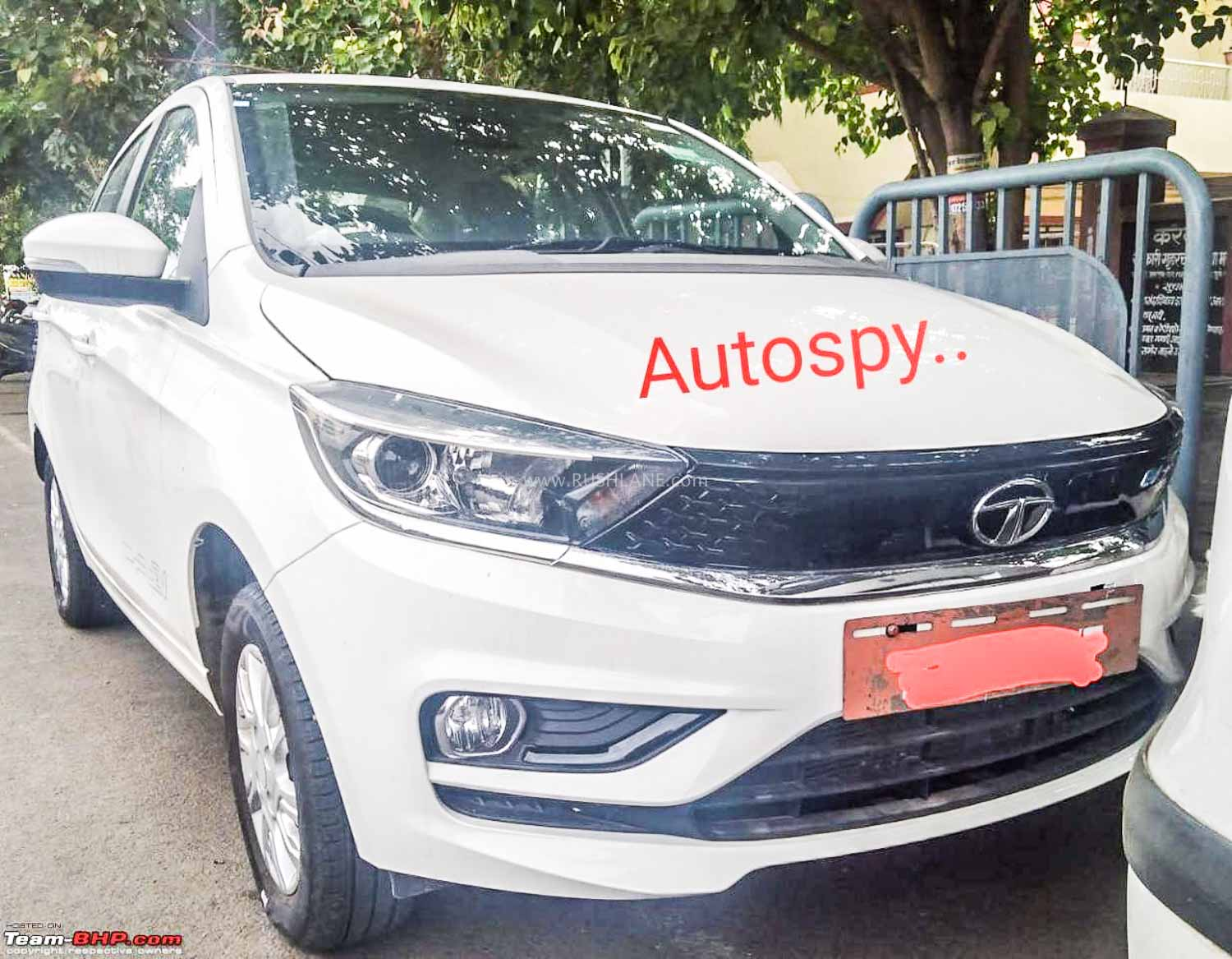 2020 Tata Tigor Electric facelift spied undisguised with new front