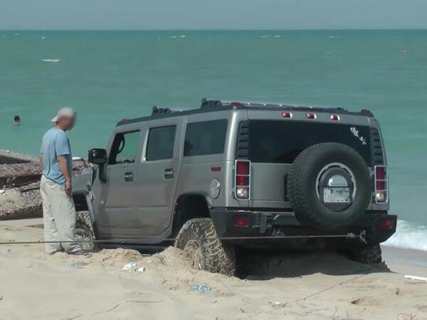 Driving on beach