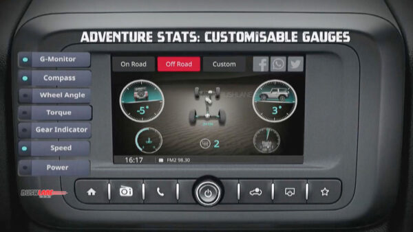 Mahindra Thar Touchscreen system is weather proof