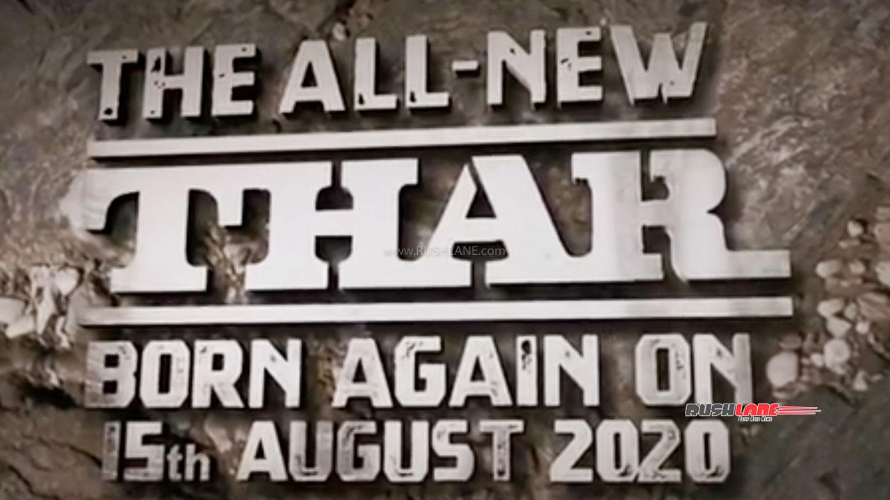 2020 Mahindra Thar Teaser Video