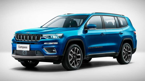 7 Seater Jeep Compass Render