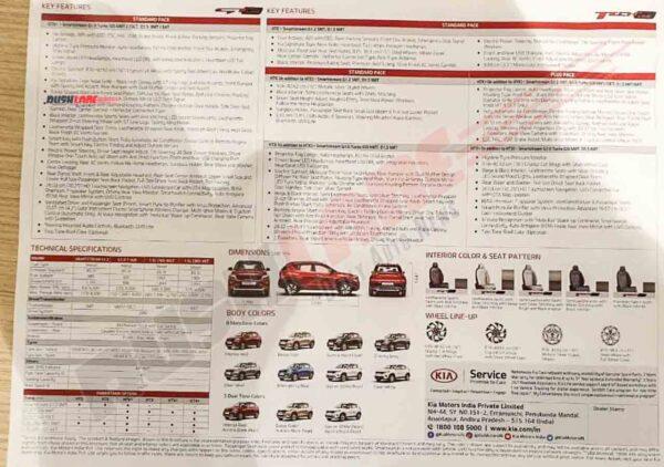 Kia Sonet Brochure