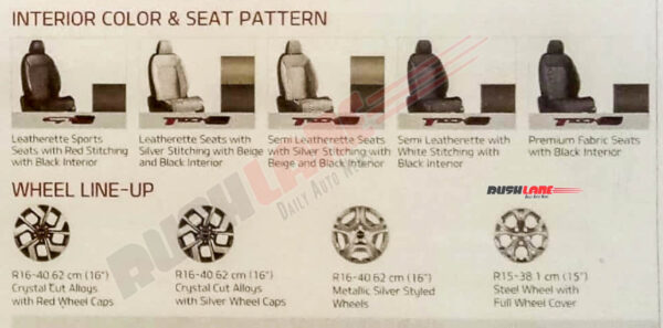Kia Sonet Seats and Alloys