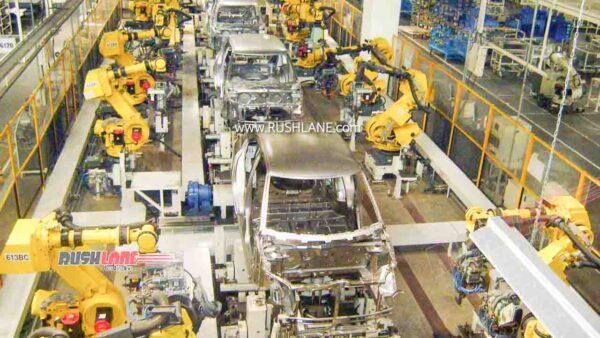 Maruti car plant production line