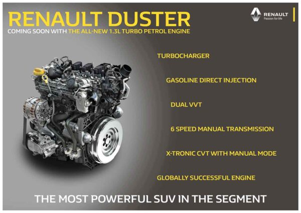 Duster Petrol Turbo Engine Details