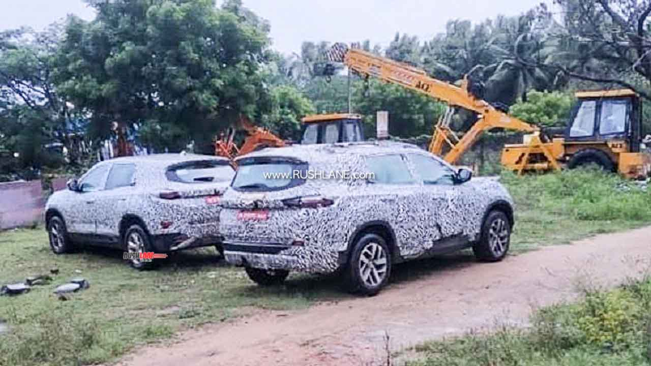 Tata Gravitas 7 Seater And Harrier 5 Seater Spied Next To Each Other