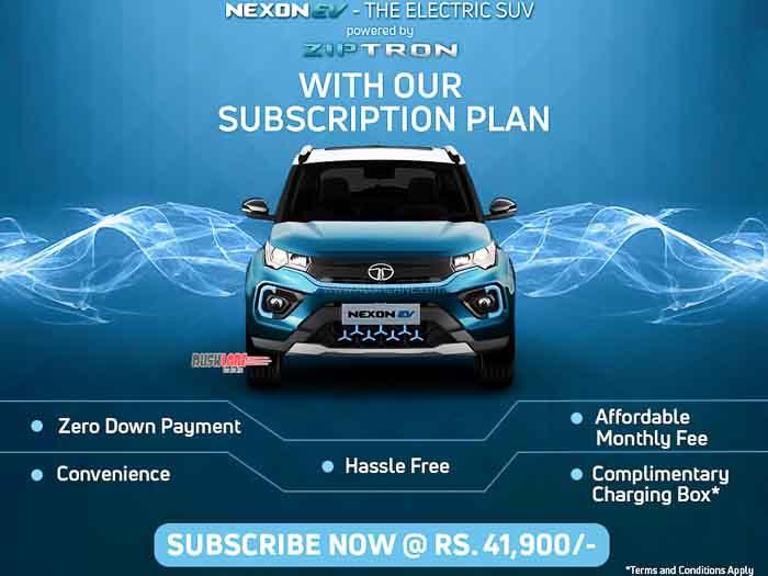 Tata Nexon subscription plan