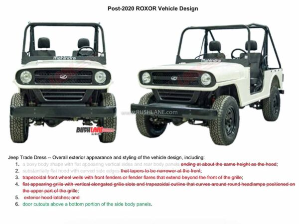 New Mahindra Roxor Redesign Face vs Points of Contention FCA had