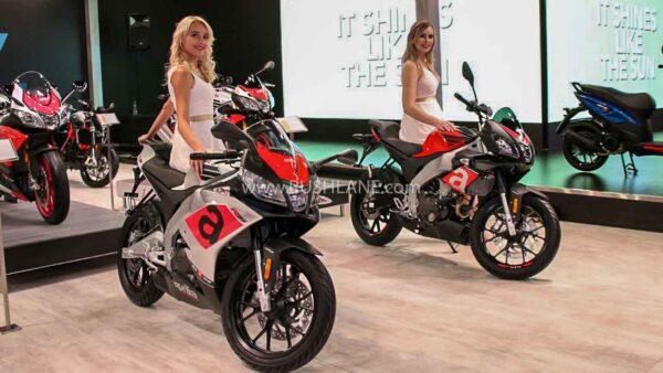 Aprilia 150cc motorcycles at Auto Expo 2018